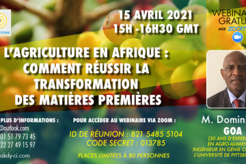 L'AGRICULTURE EN AFRIQUE: COMMENT REUSSIR LA TRANSFORMATION DES MATIERES PREMIERES